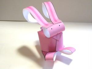 いちまいでいのち「ウサギ(桃)」(ダウンロード販売)