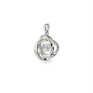 1:揺れるダイヤモンドペンダント0.1ct