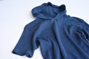 【GRAIB IN HOLLYWOOD】TRI-BLEND THERMAL PULLOVER S/S HOODY - NAVY