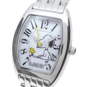 ピーナッツ PEANUTS 腕時計 レディース SN 1033 D クォーツ ホワイト シルバー