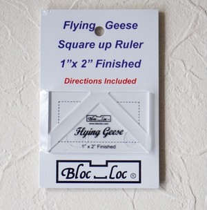 """予約制 Bloc_Loc 1"""" x 2"""" Flying Geese Rulerフライングギースルーラー"""