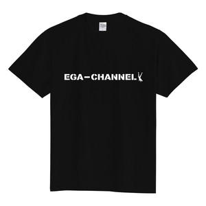 EGA-CHANNEL ロゴT-SHIRT 黒