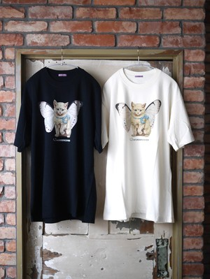SueUNDERCOVER / TEE Butterfly Cat ( IVORY / BLACK  )