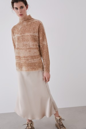 MOHAIR KNIT WITH JACQUARD