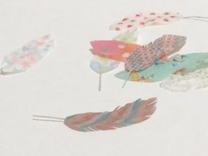 カラフルな羽根(小)6枚セット