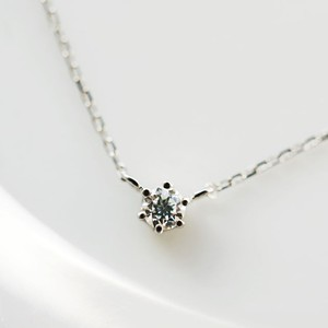 Pt900 可憐な小粒ダイヤモンドネックレス 0.05ct プラチナ