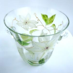 【クレマチス】夏の花 クレマチス絵付けワインクーラー1個/父の日ギフト・誕生日プレゼント・新居祝い