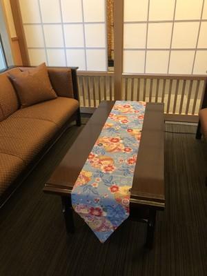松井本館 オリジナルテーブルランナー ブルー