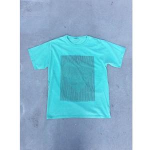 """love communication"" T-shirt / green"
