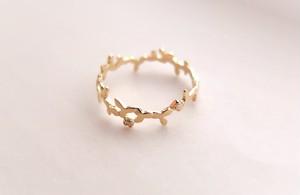 ~葉を纏う~foglia ダイヤモンド k10gold ring