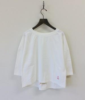 【快晴堂】7分袖ギャザーシャツ / 91C-23
