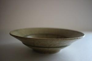 小林耶摩人|平鉢6寸リム 灰釉