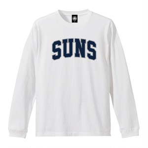 """ANDSUNS(アンドサンズ) """"SUNS COLLEGE LS TEE"""" [NM WHITE]"""