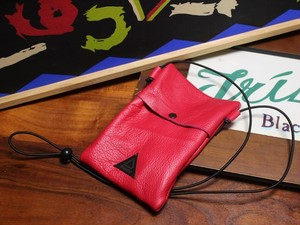 Leather Sacoche RED 01