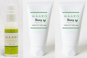 MAARO アロマミルクローション1本 & MAARO STRONGアロマミルククリーム2本