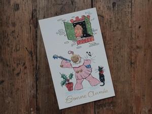 FRANCE 1960's vintage DEAD STOCK card Bonne année