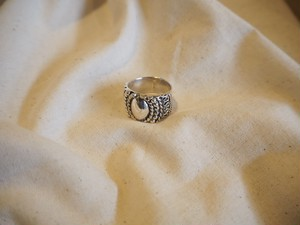 <vintage silver925>wide point ring
