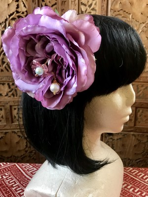 Flower hair ornament-Light purple