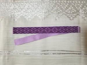 立枠柄 三重紐(紫✕薄紫)