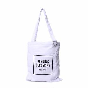 Opening Ceremony(オープニングセレモニー) トートバッグ ホワイト ロゴ ユニセックス バッグ 手提げバッグ  r013899