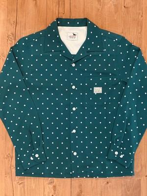 【GANGSTERVILLE】ギャグスタービル DIAMONDS - L/S SHIRTS (GREEN) ロングスリーブシャツ
