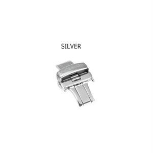 22mm/24mmベルト用  20mm/22mmバックル Silver