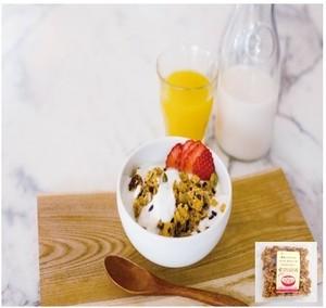 黒米とナッツのライスグラノーラ<マクロビ・ビーガン対応/添加物・香料・保存料・着色料・化学調味料・白砂糖・乳製品・卵不使用>