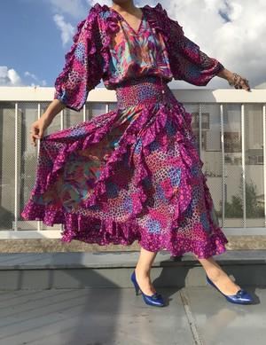 Diane freis purple Leopard print dress ( ダイアンフレイス パープル レオパード ワンピース )