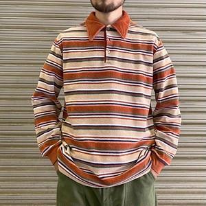 70's Montgomery Ward Pile Long Polo Shirt