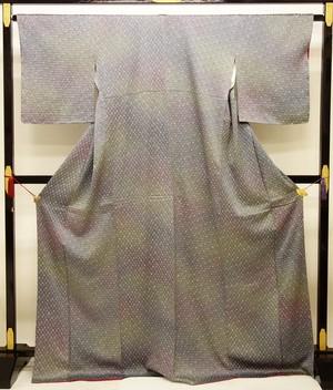 ☆21605☆身丈:170.5 裄:66cm 未使用美品 小紋 絞り 綸子地 暈し