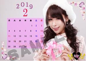 A4カレンダー☆2019.02