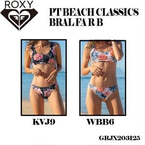 GRJX203125 ロキシー 水着 ビキニ 通販 人気 ブランド 可愛い かわいい 黒 白 ブラック系 ホワイト系 M  ボタニカル 花柄 ビーチ ナイトプール 旅行 ROXY