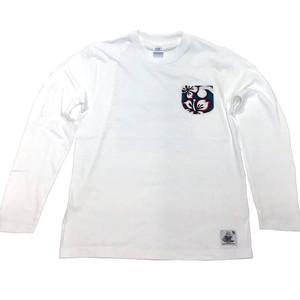 Noweee ロングTシャツ バックプリント ホワイト メンズ