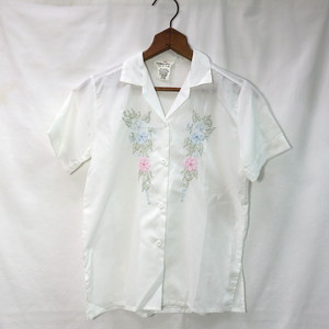 """80's OPEN COLLAR EMBROIDERY S/S SHIRTS """"N.O.S."""""""