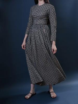 1900's Victorian / Black Calico Dress