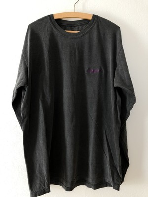 BEYOND Embroidery L/S Tee - Pepper×Violet