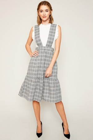 Check Overall Dress(Ladys)