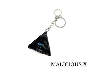 reptiles(A)eye ring charm(black) / blue