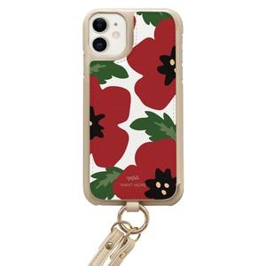 iPhoneケース ショルダー ベージュ(BELLA1 レッドL)
