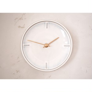〔美濃焼〕White Glazed Clock by SUGY
