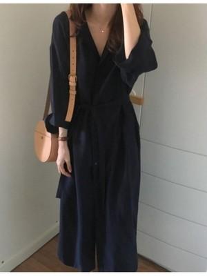 navy long shirt (大人)
