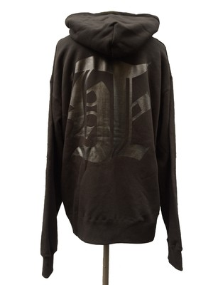 DEATH COLLABORATION OVER SIZE HOODIE [ old english ver. ]- BLACK -
