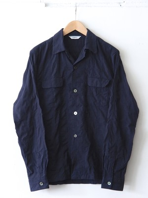 FUJITO Open Collar Shirt Navy,Khaki