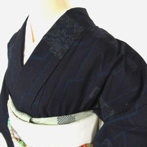 夏用 高身長 単衣紬小紋1088と名古屋帯4点セット