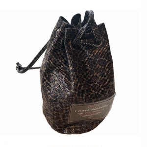 happy drawstring insulin bag(Glitter leopard)