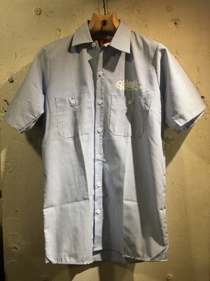 RAKUGAKI Bandana Work Shirts Blue x White