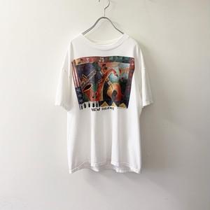 NEW ORLEANS プリントTシャツ ホワイト size L メンズ 古着