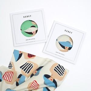 2色 Organic cotton 'Swimsuit' ハンカチ/ポケットチーフ