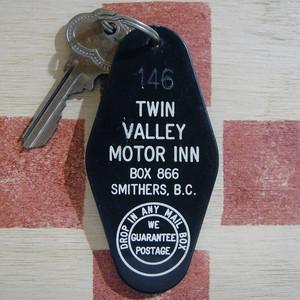 カナダ TWIN VALLEY MOTOR INN[ツインバレーモーターイン]ヴィンテージ ルームキーホルダー