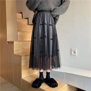 【ボトムス】ファッションレース足首丈ハイウエストAラインスカート35831557